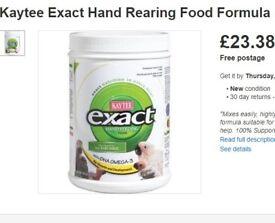 [NEARLY NEW] KAYTEE EXACT Baby Bird Hand Feeding Formula for Budgies/Cockatiels/Parrots/Etc