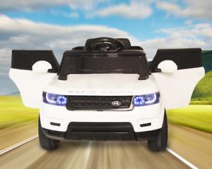 Electric Kids Ride on Car Range Rover Style  White/Orange