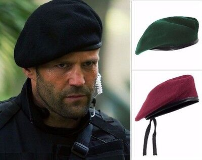 Men Cool Mix Wool Military Special Force Army French Artist Hat Cap Beret ()