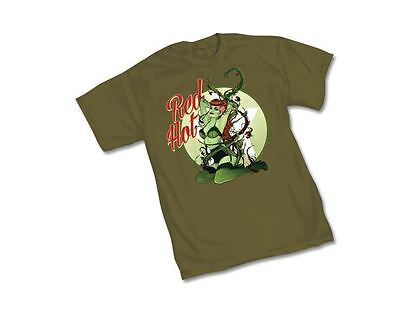 DC BOMBSHELL POISON IVY RED HOT- GREEN Adult Licensed T-Shirt - DC Comics S-2XL (Hot Poison Ivy)