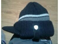 Ben Sherman peaked beanie hat