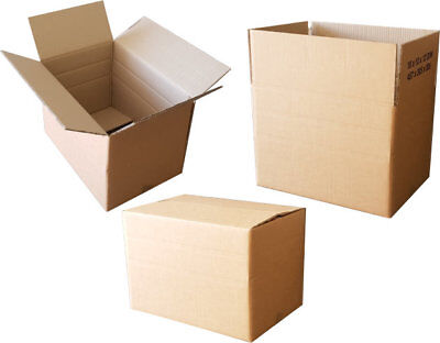 10x Small Double Wall Cardboard Boxes - 18