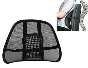 Mesh Back Rest Lumbar Support fice Chair VAN CAR Seat