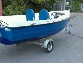 Orkney coasterliner 440 fishing boat and trailer