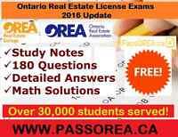 OREA REAL ESTATE LICENSE EXAM STUDY NOTES ALL COURSES 2017