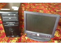 Giving away old MESH Personal Computer PC Tower and Dell LCD Screen (see description)