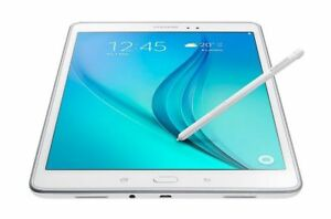 Samsung tablet Galaxy Tab A 9.7 in, white color with stylus