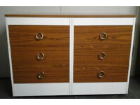 Retro conjoined chest of drawers