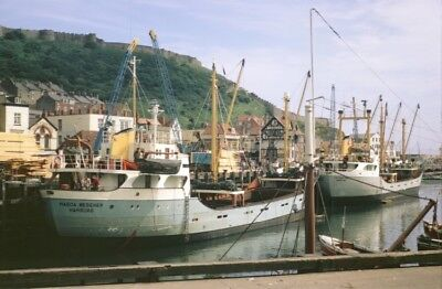 PHOTO  SCARBOROUGH TWO UNLOADED TIMBER BOATS MOORED ALONG THE GOODS QUAY OF THE