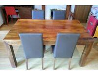 Dakota Mango Chunky Wood Dining Table