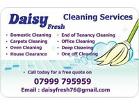 Daisy Fresh Domestic Cleaning Services Lincoln and Surrounding Areas