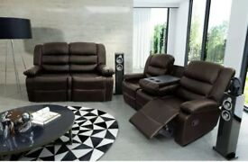 Rose Luxury Bonded Leather Recliner Suite