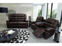 Roger Luxury Bonded Leather Recliner Suite