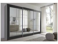 LARGE MIRRORED WARDROBE 301cm wide 207cm tall and 68cm depth £500