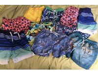 10 pairs of boys Swimming shorts age 6/7