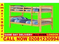 ****SUPPER QUALITY*** Double Single WOODEN Bunk Base, That convert into two- /Bedding
