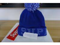 Supreme Grid Logo Beanie - Royal (Blue)