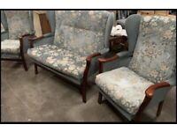 3 piece suite double sofa plus 2 armchairs
