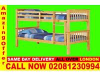 ****WOW UPTO 70% OFF*** Double Single WOODEN Bunk Base, That convert into two- /Bedding unamending
