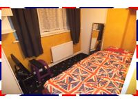 1 FURNISHED SINGLE BEDROOM FOR ONE EMPLOYED PERSON WITH GYM ROOM & PC, LONDON E6, NO COUPLES