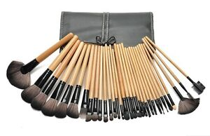 Wooden Makeup Brush - 32 Piece Set Strathfield Strathfield Area Preview