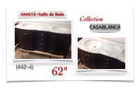 """(442-4)  VANITÉ 62""""/Salle de Bain /Collection  """"CASABLANCA"""" 999$"""