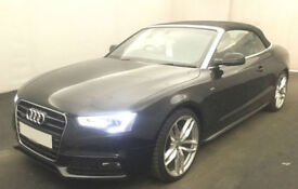 Black AUDI A5 CABRIOLET 1.8 2.0 TFSI Petrol S LINE S-T FROM £72 PER WEEK!