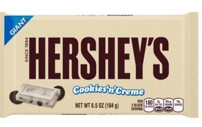 Hershey's Cookies N Cream Bar Candy Bar Large Giant Chocolate and](Cookies And Cream Chocolate)