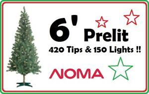 NOMA 6' Christmas Tree (150 Lights !!) --- $20 ONLY !!