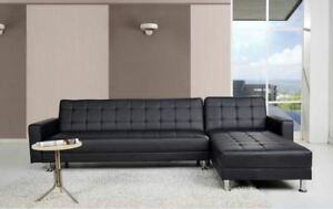 Sofa sectionnelreversible divan cuir lit KING size NEUF