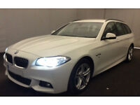 White BMW 520d M Sport Touring Estate Auto 2015 FROM £98 PER WEEK!