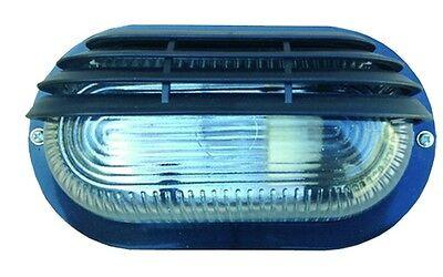 Plafoniera Da Esterno Giardino Illuminazione Ovale Per Parete Soffitto Nera 4205