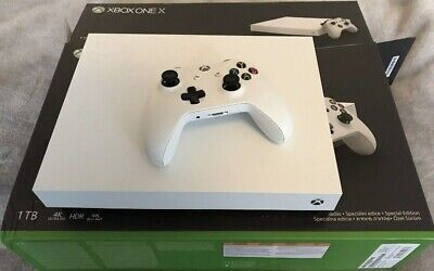 Microsoft Xbox One X 1TB Console **Limited Edition White. Boxed