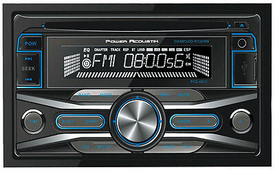 POWER ACOUSTIK PCD42 Power Acoustik DDin CD/MP3 Receiver AM/FM 32GB USB Aux i...