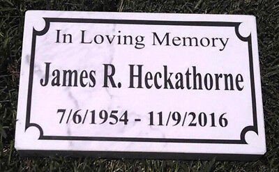 CUSTOM ENGRAVED GRANITE/MARBLE HEADSTONE GRAVE MARKER PLAQUE MEMORIAL