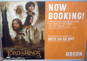 Cinema-Poster-LORD-OF-THE-RINGS-THE-TWO-TOWERS-2002-Odeon-Quad-Elijah-Wood