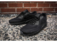 Mens Nike Air Max 90 Ultra Breathe UK Sizes 6 7 8.5 9 10 UK // Black // 95 TN