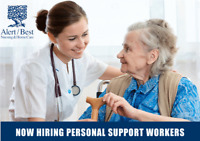 NOW HIRING !!! PERSONAL SUPPORT WORKERS (PSW's)