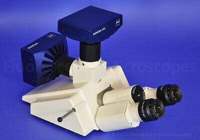 Zeiss Dual Camera Port Trinocular Head 452145 For Axioplan-2 Microscope