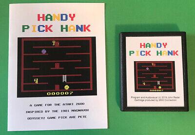 HANDY PICK HANK Atari 2600 VCS homebrew videogame Video Computer system game fun