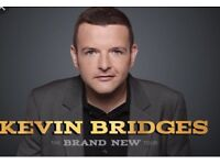 2 FLOOR SEAT TICKETS, SECTION 001, GLASGOW HYDRO SATURDAY 20TH OCTOBER, KEVIN BRIDGES.