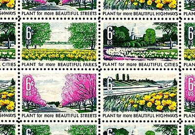 1969 - BEAUTIFICATION - #1365-68 Full Mint -MNH- Sheet of 50 Postage Stamps