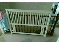 White kingsize bed headboard