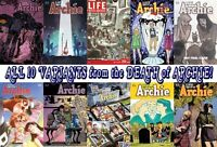 RARE- ALL TEN VARIANTS FROM THE DEATH OF ARCHIE -NEW