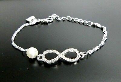Infinity Armband Blogger Armkette Schmuck Eternity Unendlichkeit Valentinstag !!