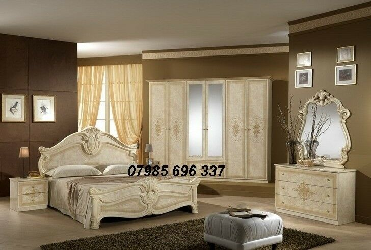 Italian Made Bedroom Furnitures Suite, Italian Bedroom Furniture Set,  Italian Bedroom