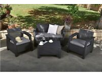 Keter rattan garden furniture