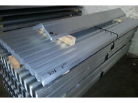Roof Sheets 8' - Galvanised STEEL Corrugated Roofing Sheets Unused 8' Long