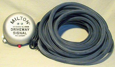 Milton Driveway Service Gas Station Signal Bell w/25' of Hose-NEW
