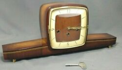 Vintage German Franz Hermle Sohn PASAL MCM Mantel Clock Westminster Chime